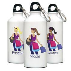 "Personalized ""Go-Girl"" Water Bottle - Shopper - $19.99 Always free personalization"