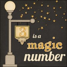 When it comes to design, three is definitely a magic number. My Three Sons, Rule Of Three, 3 Three, Lucky Number, Number 3, Number Quotes, Lincoln Birthday, Magic Number, Office Quotes