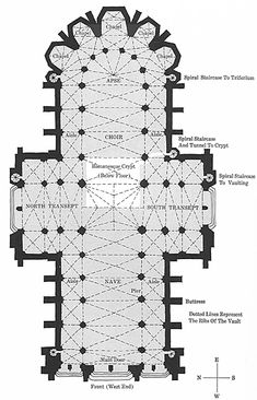 Cathedral Floor Plan Glossary - Ariel View - The Pillars of the Earth - Oprah.com