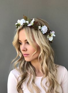 Blush wedding flower crown pink bridal floral headband pastel flower white flower crown floral headband flower halo bridal headpiece boho wedding bridesmaid crown wedding floral crown flower hair wreath mightylinksfo