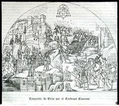'Conquista de Orán por el Cardenal Cisneros' (ilustración del artículo firmado por N. M.). 1843.