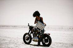 royal enfield bullet girl desert