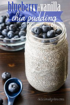 blueberry vanilla chia seed cup unsweetened vanilla almond milk tbsp maple syrup cup chia seeds cup blueberries (or fill to top) chia pudding Chia Pudding Almond Milk, Strawberry Chia Seed Pudding, Chocolate Chia Seed Pudding, Vanilla Chia Pudding, Chia Seed Almond Milk, Keto Chia Pudding, Pudding Desserts, Pudding Recipes, Superfood