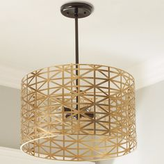 Young House Love Metal Strap Convertible Chandelier - Shades of Light - Bed 3 light option