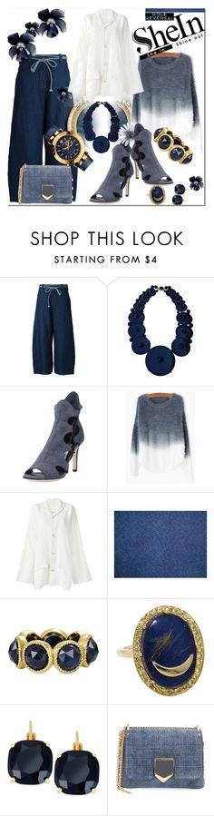 """""""SheIn / Role Reversal"""" by emperormpf ❤ liked on Polyvore featuring moda, toogood, Jimmy Choo, Kate Spade, Versace, women's clothing, women's fashion, women, female y woman"""