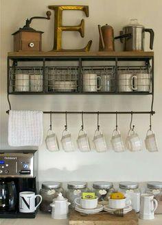 Coffee bar-- shelf from Hobby Lobby???