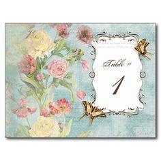 Les Fleurs Peony Rose Tulip Floral Flowers Wedding Post Cards