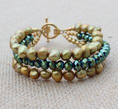 Pearl Bracelet by InspiredTheory on Etsy