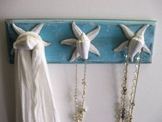 Beachy Chic Blue & White  Wall Hanger for by CountertopCouture, $35.00