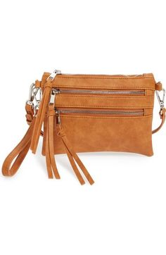 Sole Society 'Camilla' Faux Leather Clutch available at #Nordstrom