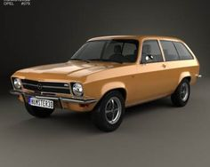 3D model of Opel Ascona A Voyage 1970
