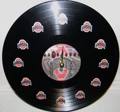 OHIO STATE UNIVERSITY Vinyl Record Wall Clock by PandorasCreations, $25.00