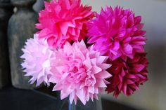 Stemmed pom pom flower bouquets perfect for:    table centerpieces  hair accessories  flower girls  party decor  nursery decor  wedding decor  baby and bridal showers  photo shoots  store & window displays  children's rooms    DIY kit includes:  6 petite poms 4-5''  6 stems  instructions for blos...