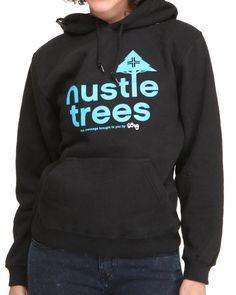 Lrg Women Lrg Hustle Trees Pullover Hoodie Black Medium
