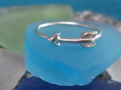 Silver arrow ring Sterling Silver by PKayDee on Etsy, $13.50.....I want this so bad!