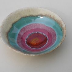 Sunset Circles.. A little ceramic bowl