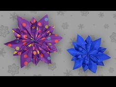 Origami Schneeflocke: Snowflake - Faltanleitung (Live erklärt) - YouTube