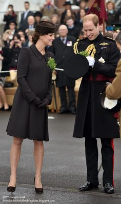 From Berkshire to Buckingham : Duchess Kate in Brown Catherine Walker for St. Patrick's Day