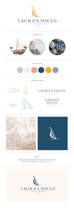 Coastal inspired brand and logo design for Laura's Focus Photography | Davey & Krista