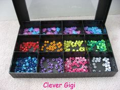 Peek-a-Boo! Treasure Box - organize and store beads.  $15.00  #craft #organization #clever #container #beads #box