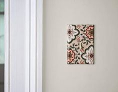 Weekend D.I.Y. - wallpaper light switch covers