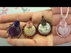 In this tutorial I show you how to make a rose covered wire wrapped cabochon using the technique from my 5 strand braid wire wrapped cabochon and then adding...