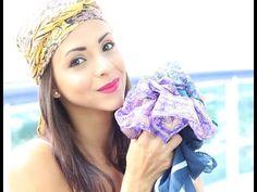 8 Formas de amarrar Lenços na cabeça - By Rhaynna Pianta - YouTube