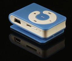New Mini Clip MP3Player Plays mp3 music. Simply copy/paste the mp3 files from your PC to the MP3 player and you are ready to go.