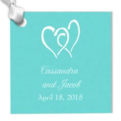 Square Personalized Hang Tags