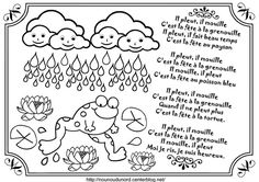 Comptine Il pleut il mouille illustrée par nounoudunord