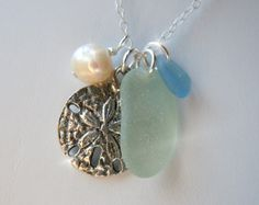 Sea Glass Necklace  Modern Jewelry  Aqua by BeachGlassMemories, $26.50
