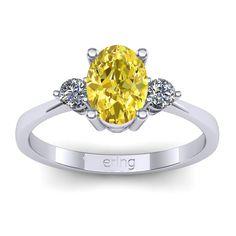 Inel logodna L92ASG cu safir galben si diamante