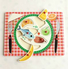 'Bon Appetit' wooden food puzzle toy, designed by Ingela P. Arrhenius, as featured on Bobby Rabbit