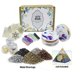 cc890dfa6 Orgone Pyramid Making Supplies Kit with Metals, Crystals, Foil for Orgonite  Pyramids
