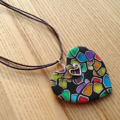FIMO Polymer Clay Heart Pendant... but maybe a different shape