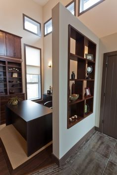 Nice way to separate a space for a home office! The Oakpark contemporary home office