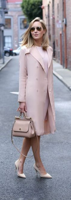 Pretty blush coat.