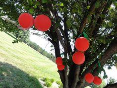 cherry balloons--  adorable party decor!