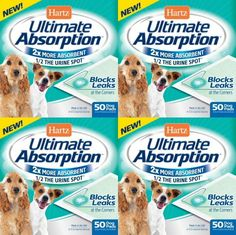 Hartz Ultimate Absorption Dog Pads 200ct (4 x 50ct) * Want additional info? Click on the image. (This is an affiliate link and I receive a commission for the sales)