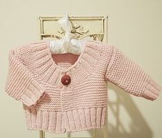 This quick knit cardigan is an easy knit, and would make a great little Vest. The cardigan is designed to be short, however if you wish to lengthen this, you wo