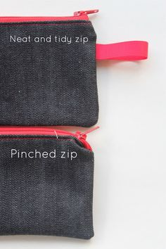 """Sew Delicious: The Trouble with Zips"" This is a fantastic resource for using zippers in small bags. They can be tricky! ~Anna from Janome"