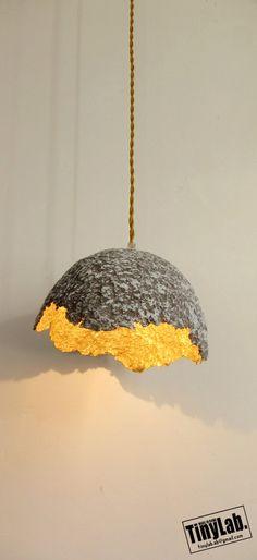 EGGSHELL ceiling lamp paper mache par TinyLabmadeinrome sur Etsy                                                                                                                                                                                 Plus