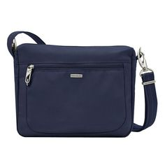 Travelon Anti-Theft Classic East-West Crossbody Bag, Adult Unisex, Dark Blue