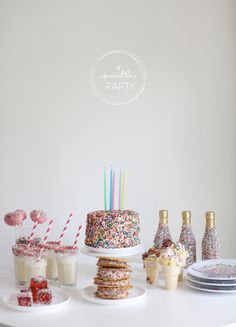 Party Ideas: A Sprinkles Party  Read more - http://www.stylemepretty.com/living/2013/04/12/party-ideas-a-sprinkles-party/