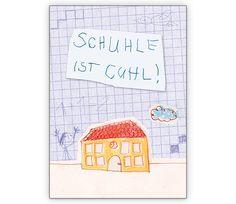 Schuhle ist cuhl! Fröhliche Einschulungs Karte - http://www.1agrusskarten.de/shop/schuhle-ist-cuhl-frohliche-einschulungs-karte/    00024_0_2891, 1.Klasse, ABC Schützen, Einschulung, Erstklässler, Grusskarte, Klappkarte, Schule, Schulstart00024_0_2891, 1.Klasse, ABC Schützen, Einschulung, Erstklässler, Grusskarte, Klappkarte, Schule, Schulstart