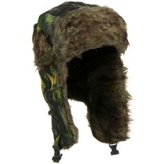 Faux Fur Lining Aviator Bomber Trooper Trapper Winter With Ear Flaps Hat  CAMO  fashion   7c66f1039a5b