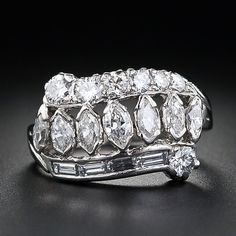 Mid-Century  Diamond Band Ring THIS IS A POTENTIAL WEDDING BAND - LOVE IT!