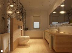 wood in bathroom