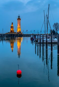 Harbour of Lindau, Germany by Europe Trotter