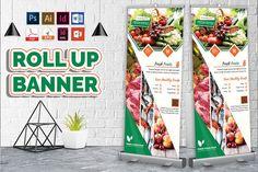 Grocery Shop Roll Up Banner by Imagine Design Studio Corporate Design, Flyer Design, Standing Banner Design, Rollup Banner, Supermarket Design, Restaurant Flyer, Bi Fold Brochure, Real Estate Flyers, Food Stands
